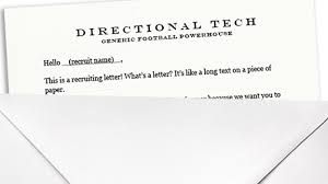 a letter for really early football recruiting sports fans