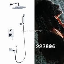 brass bathroom shower faucets set 8 inch shower head bath mixer