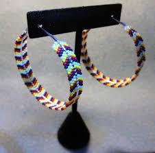 hoop beaded earrings brick stitch hoop earrings