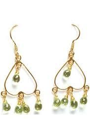 Peridot Chandelier Earrings Buy Gold Earrings For Women U0026 Other Indian Gold Jewelry Exoticindia