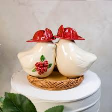 fireman wedding cake toppers two firefighters wedding cake topper
