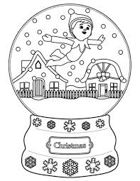 free christmas elf shelf coloring christmas coloring