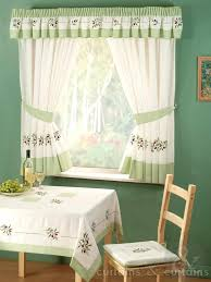 Kitchen Curtains Uk by Green Embroidered Olives Kitchen Curtain Curtains Uk