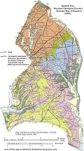 map of county geologic maps of maryland prince georges county