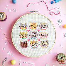 cross stitch patterns kawaii