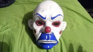Joker Halloween Mask The Joker Dark Knight Bank Heist Mask Review Update Youtube