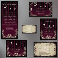 top album of gothic wedding invitations theruntime com