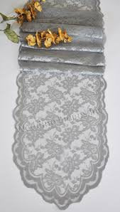 silver lace table runners wedding