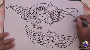 aquarelle facile magazine comment dessiner et peindre des anges dessin art musique
