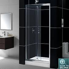 Infold Shower Doors Dreamline Showers Butterfly Frameless Sliding Shower Door Bi