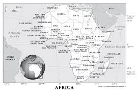 4 Corner States Map by Africa Physical Geography National Geographic Society