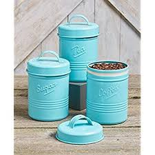 teal kitchen canisters amazon com vintage set of 3 white metal kitchen canisters made