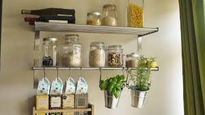 clear canisters kitchen magnetic wall decor for kitchen walls set of 2 wall mounted