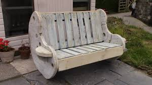 Patio Furniture Pallets by Diy Garden Bench Project Pallet And Cable Reel Furniture Youtube