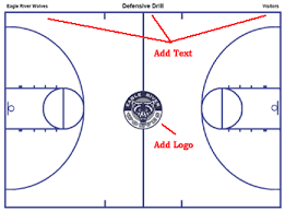 basketball court diagrams templates free printable