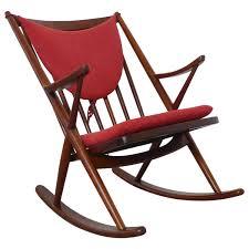 Rocking Folding Chair Teak Rocking Chair By Frank Reenskaug For Bramin Denmark 1958