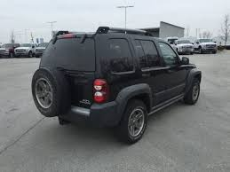 black jeep liberty used 05 jeep liberty renegade 3 7l v6 4wd auto black gray cloth