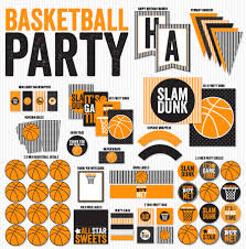basketball printable party printables instant download by