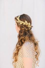 gold headband gold bridal fascinator beaded leaf headband grecian bridal hair