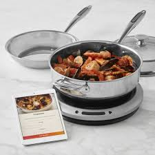 induction cuisine hestan cue smart induction burner fry pan chef s pot williams