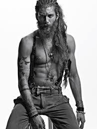 my dream type the long hair scruffed beard pierced