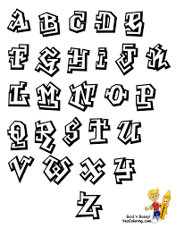 graffiti hip hop graffiti free alphabet coloring page abc within