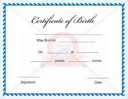 print birth certificate templates certificate templates