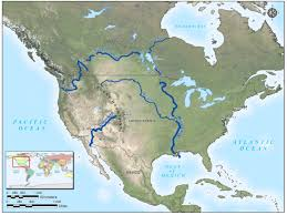 Physical Map Of North America by File Map North America Major Rivers Jpg Glen Canyon Dam Amp