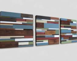 distressed wood artwork reclaimed wood wall sculpture abstract painting on