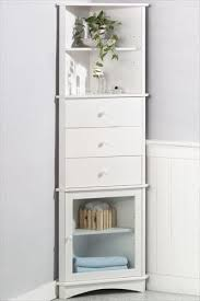 White Corner Bathroom Cabinet Sophisticated Terrific White Corner Bathroom Cabinet Wall On