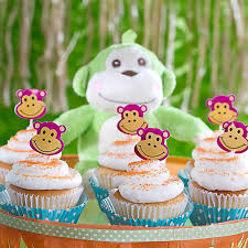 jungle theme baby shower monkey cupcakes idea party city
