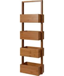 buy freestanding bathroom storage caddy bamboo at argos co uk