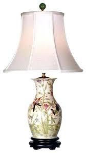 asian desk lamp flowers and birds porcelain vase table lamp table