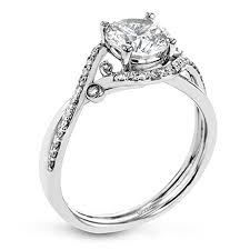 ring setting simon g delicate collection diamond engagement ring setting