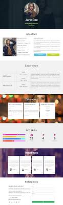 resume templates 2014 wordpress cv resume one page website elementor layout template free