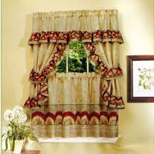attractive country curtains for kitchen and cheap decor gallery