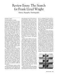 frank lloyd wright biography pdf the search for frank lloyd wright history biography autobiography