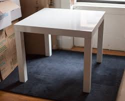 west elm parsons dining table square u2013 150 sold uws garage sale
