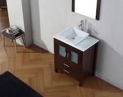 Bathroom Vanities With Vessel Sinks Abodo 28 Inch Single Vessel Sink Bathroom Vanity Espresso Finish
