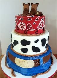 baby shower 3 tier western baby shower cake cowboy baby shower