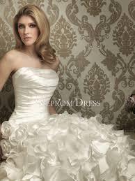 Clearance Wedding Dresses Up Ivory Organza Taffeta Sweep Train Sleeveless Ball Gown