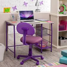 Computer Desk With Chair Design Ideas Winsome Rectangle Desk Design With Amazing Purple Swivel
