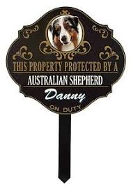 australian shepherd yard art personalized