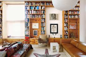floor to ceiling bookcase plans nolita loft interior boasts floor to ceiling book shelves modern