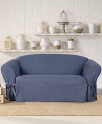 sure fit denim sofa slipcover sure fit authentic denim one piece t cushion loveseat slipcover