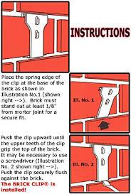 brick clips for christmas lights brick driveway image brick clips