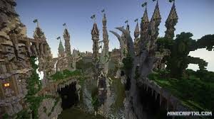 City Maps For Minecraft Pe Aerlond Fantasy City Map Download For Minecraft 1 7 1 6