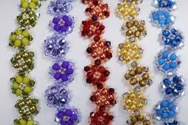 free beaded bracelet pattern images Deb roberti 39 s crystal luster flower bracelet pattern jpg