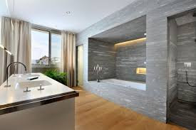 white porcelain soaking bathtub white polished master bathroom