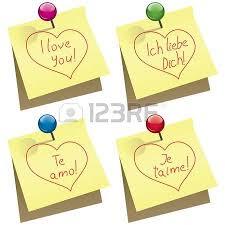 imagenes de amor en ingles español papel amarillo nota con alfiler y amor que las palabras en inglés